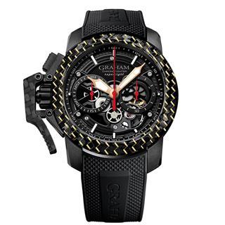 格林汉 Graham 战机超轻碳纤维系列镂空腕表(表圈含18K金)2CCBK.B25B 机械 男款