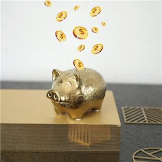 陶瓷工艺品金猪存钱罐陶瓷储蓄罐猪摆件