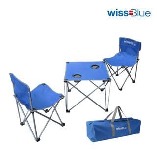 Wissblue维仕蓝双人桌椅 户外折叠桌椅轻便休闲