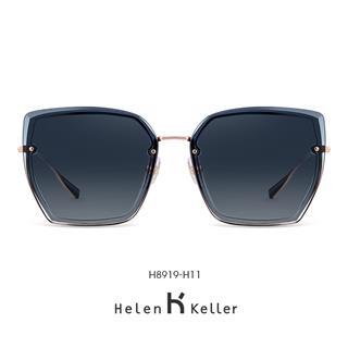 Helen Keller海伦凯勒太阳眼镜 个性偏光太阳镜时尚潮墨镜女款H8919H11(深灰渐进)