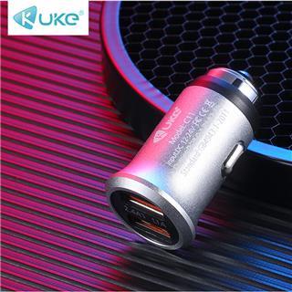 金属双USB车充 3.4A新款原装智能车载旅行快充充电器(银色)
