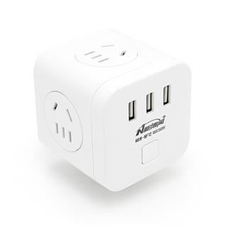 能博闻无线魔方插座排插面板多孔USB插排