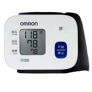欧姆龙家用测量仪血压计 电子手腕式量血压机仪器高精准医用全自动HEM-6161