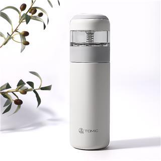 Tomic特美刻乐茶保温杯 茶水分离316不锈钢保温杯(知性白)