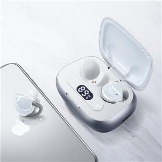 Joyroom无线蓝牙耳机 入耳式真无线TWS主动降噪运动苹果安卓华为手机通用耳机(白色)