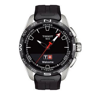 天梭 Tissot 高科技触屏系列 T121.420.47.05.100 石英 光动能 男款
