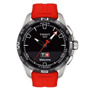 天梭 Tissot 高科技触屏系列 T121.420.47.05.101 石英 光动能 男款