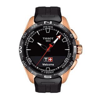 天梭 Tissot 高科技触屏系列 T121.420.47.05.102 石英 光动能 男款