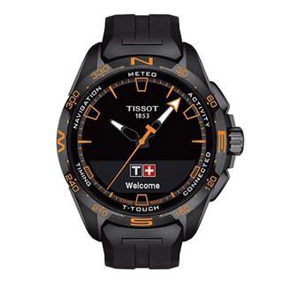 天梭 Tissot 高科技触屏系列 T121.420.47.05.104 石英 光动能 男款